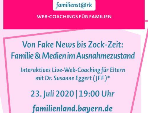 """Web-Coaching """"familienst@rk"""" soll Familien in Bayern begleiten"""